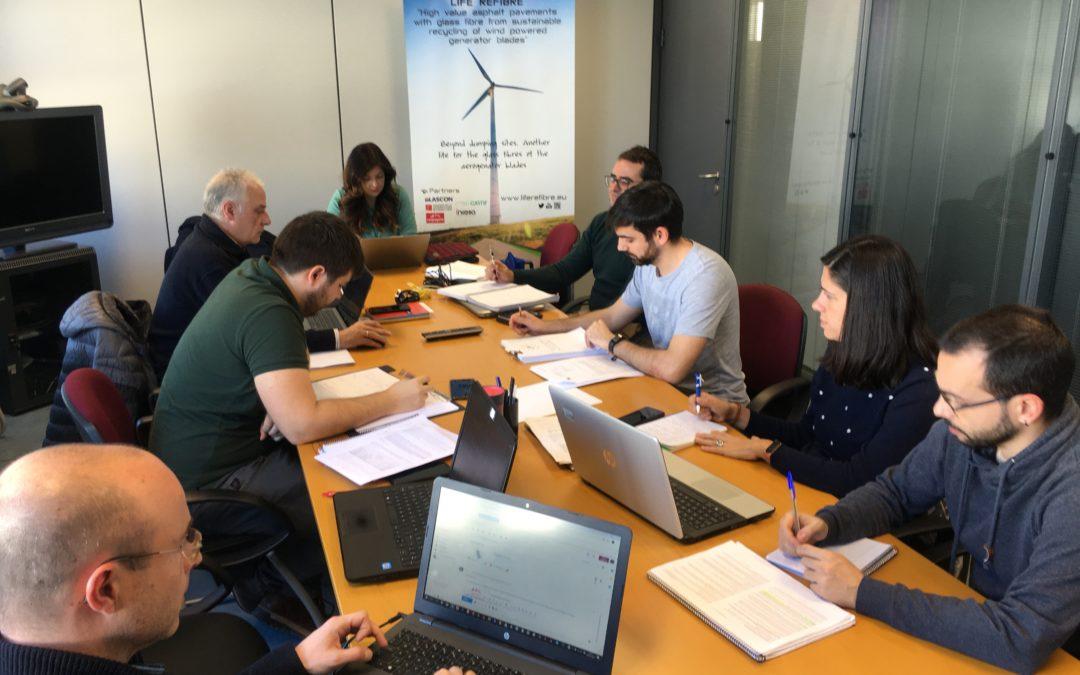 Reunión seguimiento del proyecto en INCOSA