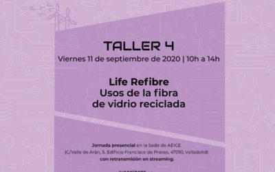 TALLER 4 – USOS DE LA FIBRA DE VIDRIO RECICLADA